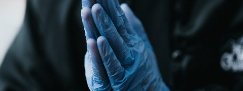 blue-glove-ppe-cleaning